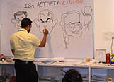 Caricature Workshop at Shanthinikethana School