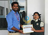 Abinaya from Chellammal Vidyalaya, Trichy won the 1st prize in World Diabetes Day Drawing Competition